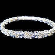 Vintage Bridal Tiara, Rhinestones, Never Used