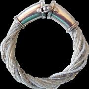 Antique Sterling Silver Etruscan Revival Beaded Bracelet