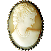 Vintage Hand-Carved Shell Cameo, Ca 1910