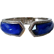 Stephen Webster Classic Crystal Haze Bracelet, 18K Gold, Diamonds, Lapis, Quartz Crystal
