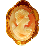 Vintage Hand-Carved Shell Cameo, Ward Bros of Scotland