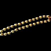 Vintage Estate Necklace/Choker, 14K Gold and Cultured Pearls