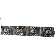 Fabulous Cannetille and Filigree .900 Silver Bracelet, Palestine