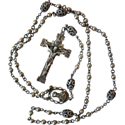Vintage Sterling Silver Rosary, by Creed