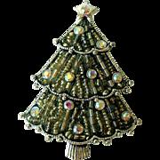 Vintage Christmas Tree Pin, Liz Claiborne
