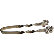 Vintage Sterling Silver Sugar Tongs, Arts & Crafts Floral