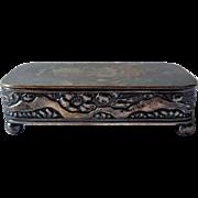 Early Snuff or Trinket Box, Quadruple Plate, Ca 1890, Wm. Barthman
