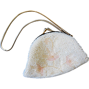 Vintage Beaded Embroidered Change Purse