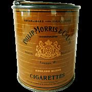 Vintage Philip Morris Cigarette Tin, Humidorpack