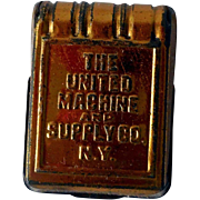 Early Knapsack Match Safe, The United Machine and Supply Co., N.Y.