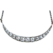 Vintage Diamond Necklace in 14K White Gold - 2.03cttw.