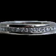 Amazing Antique Platinum Pave Diamond Full Eternity Wedding Band - 1.44cttw.