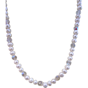 A Cultured Freshwater Pearl and Crystal Necklace