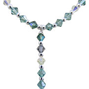 A Faceted Swarovski Crystal Bicone Necklace