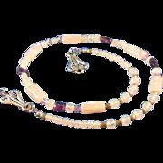 SALE Amethyst, Rose Quartz and Swarovski Crystal Delight