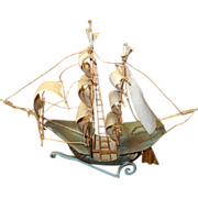 Brass sailing ship