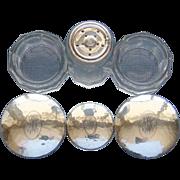 SALE American Arts & Crafts Movement Lebolt & Co Sterling Silver 3 Piece Dresser Jar .