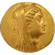 SALE Ptolemaic Egypt Large Gold Ancient Coin Ptolemy VI - VIII, ca. 180-116 B.C ...