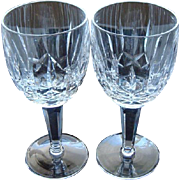 Waterford Irish Lead Crystal Water Goblets 7 Inch Tall in the Kildare Pattern