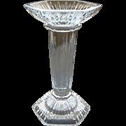 SALE Waterford Irish Cut Crystal Single Tall Candlestick Marquis Pattern