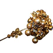 REDUCED Vintage Miriam Haskell Stick Pin