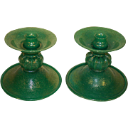 SALE Rare Venetian Candleholders, Murano-Seguso Verti D'Arte