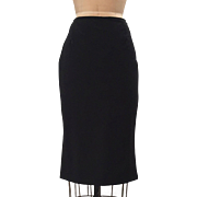 Paul Smith Black Pencil Skirt with a Slight Flared out Bottom Size 46