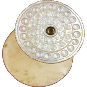 Mother of Pearl Shell Topped Sewing Reel Holder or Thread Spool, England c1840 (ref1)