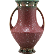 "Roseville Ferella 9.25"" Statuesque Vase 510-9 Designed by Frank Ferrell In Berry Red ..."