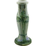 "Roseville Vista 18.5"" Buttressed Floor Vase 134-18 with Palm Tree Vista Landscape Mint"