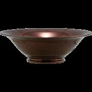 "Cowan Miniature 1.25"" x 3.75"" Flared Bowl In Fabulous Copper Luster Oilspot Glaze .."