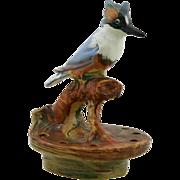 "Weller Muskota/Woodcraft 6.75"" Kingfisher Flower Frog In Brilliant Colors"