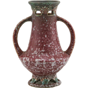 "Roseville Ferella 6.25"" Vase 499-6 In Fabulous Berry Red Frosted Glazes"