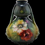 "Royal Bonn Germany Art Nouveau 8"" Vase With Poppies Franz H. Melhem c1890-1920 Gorgeous ."