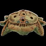 "Weller Muskota 5.25"" Crab Flower Frog In Very Handsome Colors!"