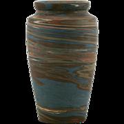 "Niloak Mission Swirl 6.25"" Vase In Natural Mocha/Blue/Brown/Terra Cotta Mint"