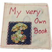 Handmade Educational Child's Cloth Book