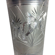 Nine Fancy Engraved Aluminum Tumblers (Brazil)