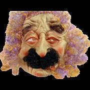 Vintage Rubber Halloween Mask Old Man