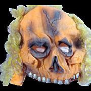 Old School Rubber Mask / Day-glow Orange Skull