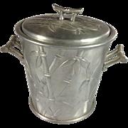 SOLD 1950s Everlast Forged Aluminum Bali Bamboo Ice Bucket