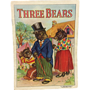 1939 Linenette Book: Three Bears Child's Booklet
