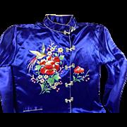 Vintage Silk Royal Blue Pajamas