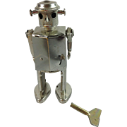 Vintage Chrome Robot Wind-up Toy