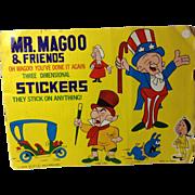 1979 Mr Magoo & Friends Puffy Stickers