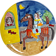 LaMusa Sicily, Italian Folk Art Ceramic Plate