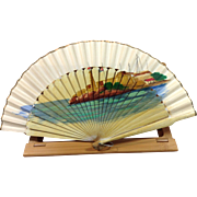 Hand Painted Seaside on Folding Fan