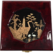 Cork Diorama on Lacquered Wooden Box