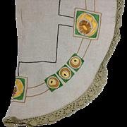Arts & Crafts Circular Tablecloth