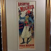 Absinthe Mugnier, Original Lithograph, Lefvere 1898, Plate 135